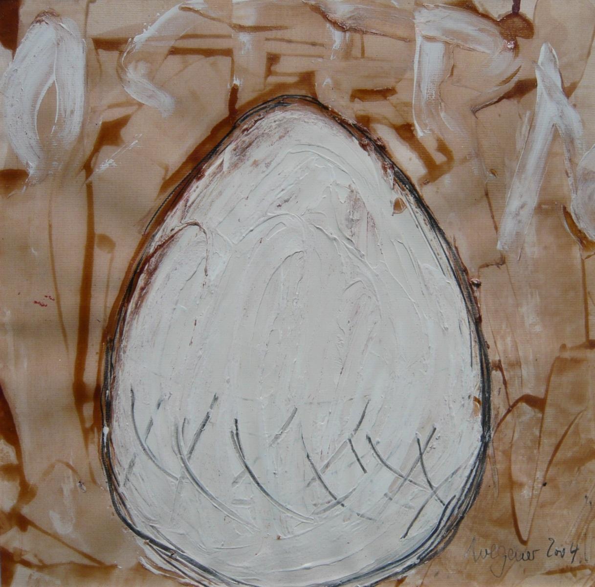 'Ostern - weiß' Quadrat 2. Serie / XIV
