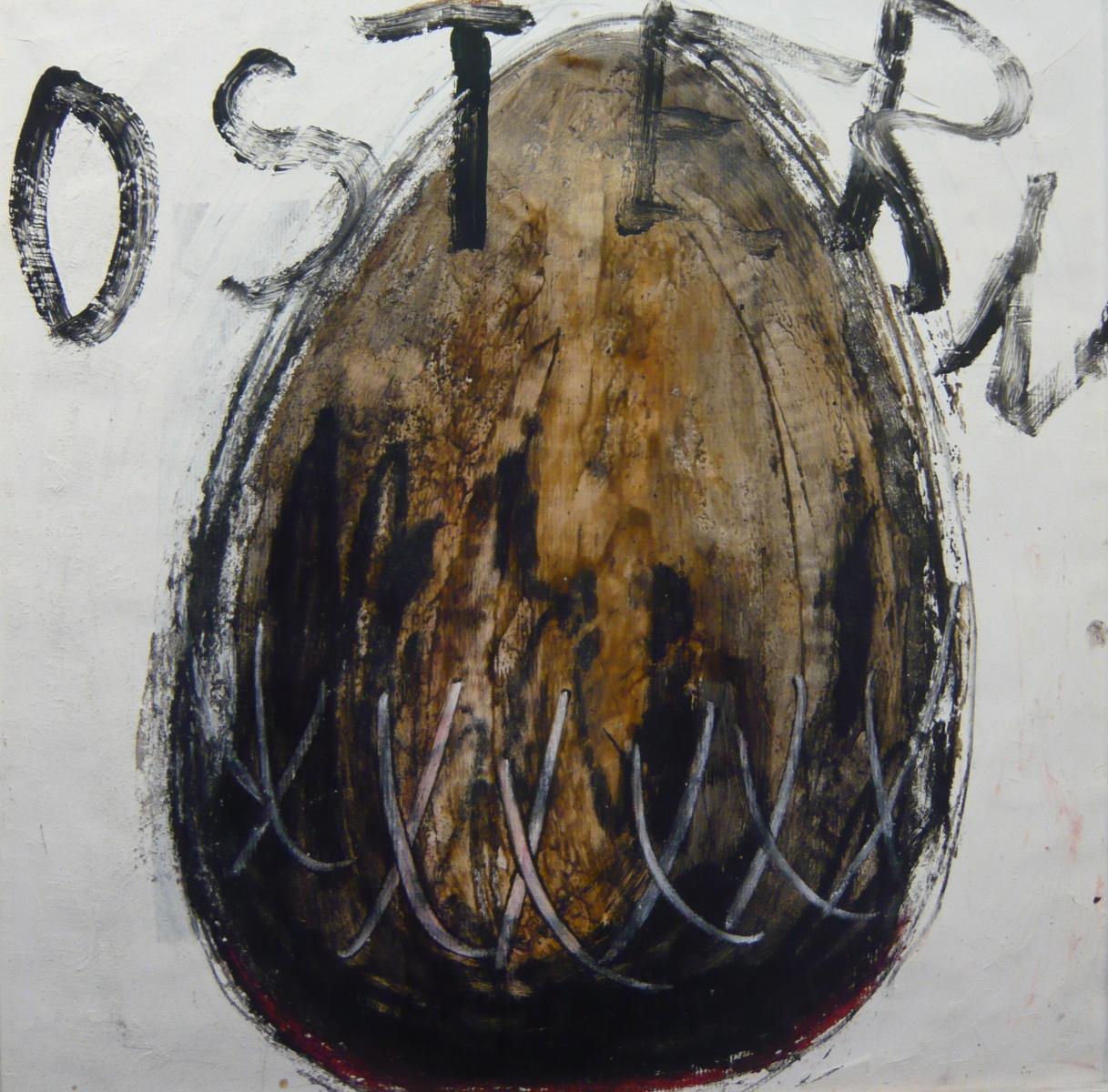 'Ostern - schwarz' Quadrat 2. Serie / XV