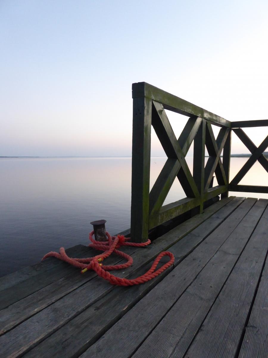 Traumhafte Abendstimmung am See.