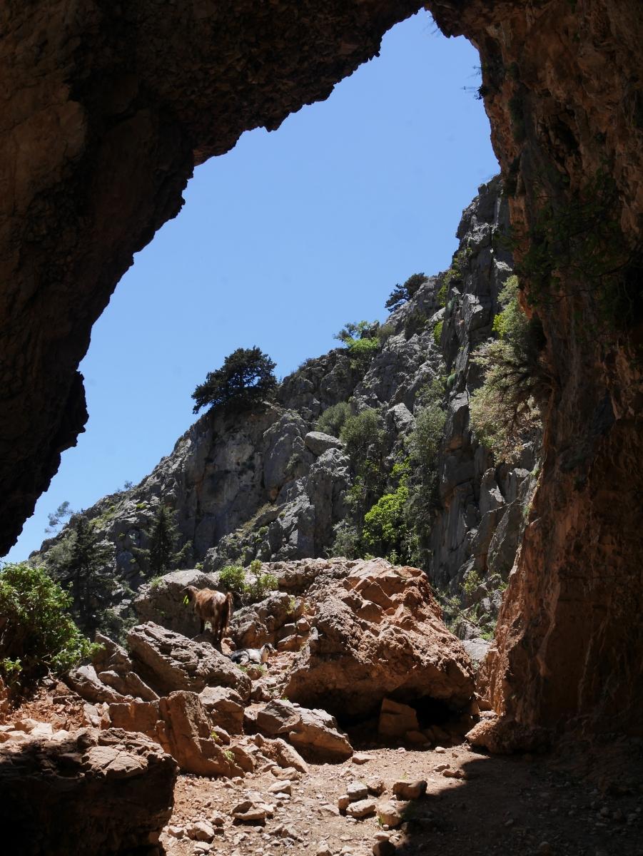 Aussichten während der Wanderung durch die Imbros-Schlucht.