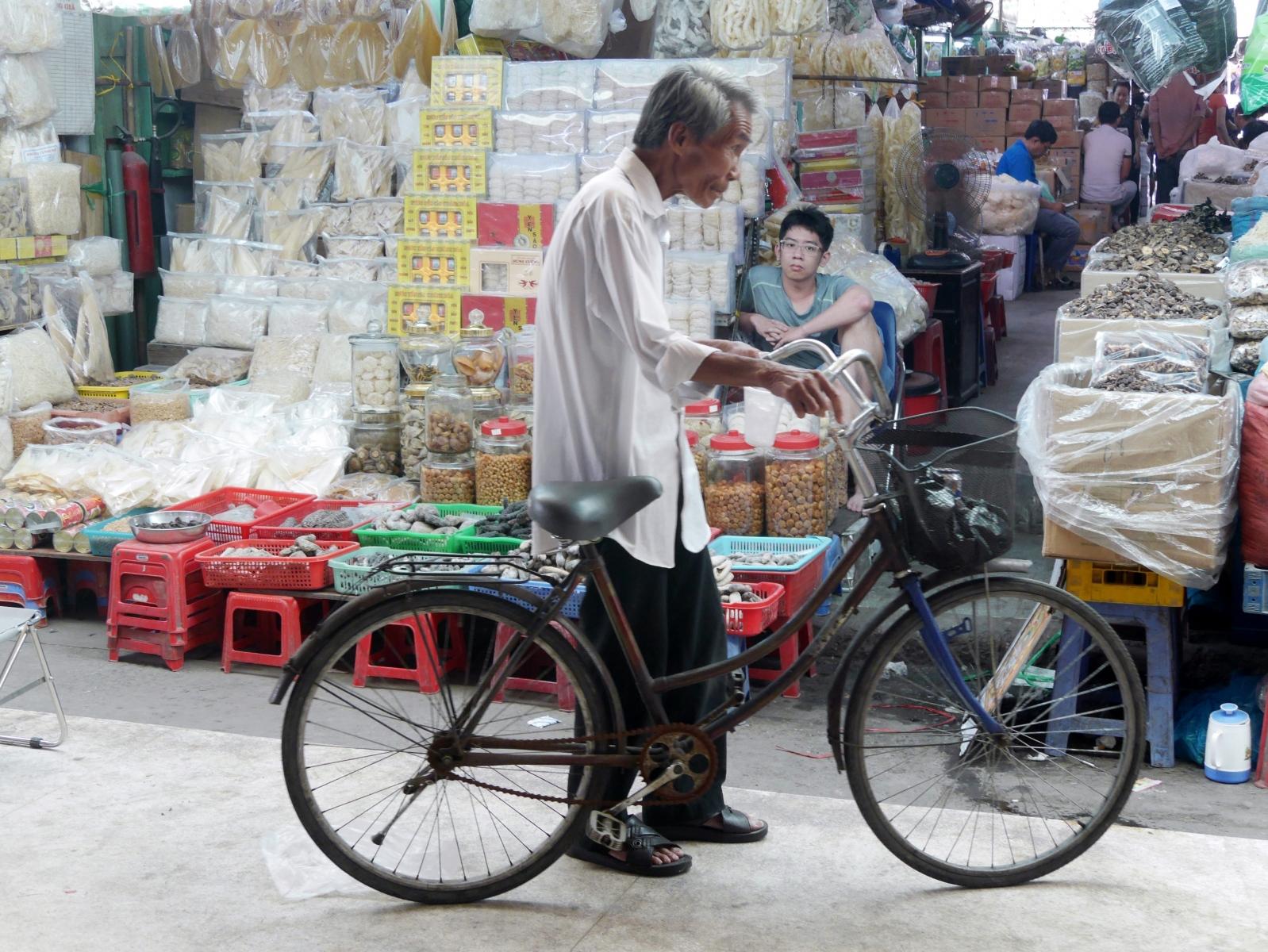 Gelegentlich gibt es auch noch Fahrräder