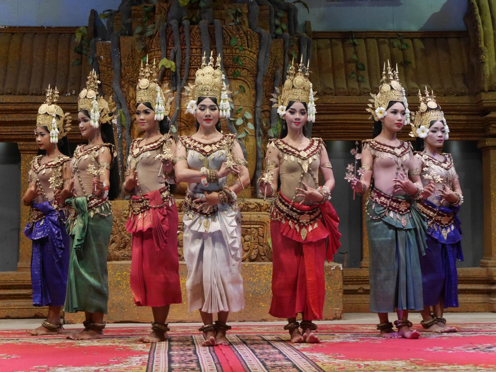 Traditionelle Tempeltänzerinnen
